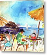 Papagayo Beach Bar In Lanzarote Metal Print