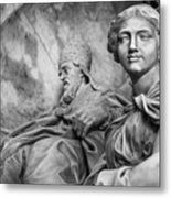 Papal Statues Inside St Peter's Basilica Metal Print