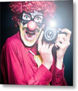 Paparazzi Taking Photograph At Red Carpet Event Metal Print