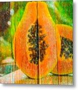 Papaya Dreaming Metal Print