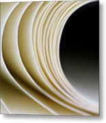 Paper Curl Metal Print