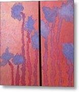 Paper Flowers Metal Print