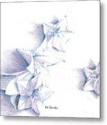 Paper Petals Metal Print
