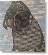 Paper Pug Metal Print