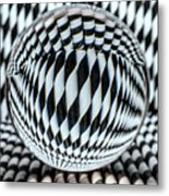 Paper Straw Patterns Metal Print