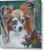 Papillon With Monarch Metal Print