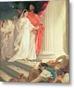 Parable Of The Wise And Foolish Virgins Metal Print by Baron Ernest Friedrich von Liphart