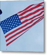 Parachute And Flag Metal Print