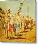 Parade Of The Chiefs Metal Print by G Kay Cummings