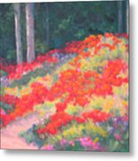 Parade Of The Poppies Metal Print