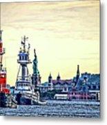 Parade Of Tugs, Hudson River, New York City Metal Print
