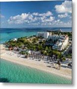 Paradise - Isla Mujeres - Playa Norte, Aerial Image Metal Print