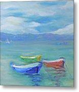 Paradise Island Boats Metal Print