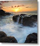 Paradise Sunset Splash Metal Print