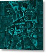 Paramount Turquoise Metal Print