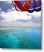 Parasail Over Fiji Metal Print