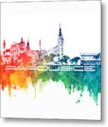 Pardubice Skyline City Color Metal Print