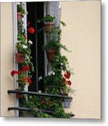 Paris - Window 2 Metal Print