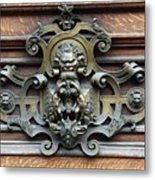 Paris - 19th Century Brass Door Knocker Metal Print