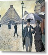 Paris A Rainy Day Metal Print