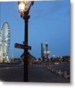 Paris At Dawn Metal Print