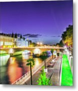 Paris At Night 16 Art Metal Print