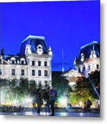 Paris At Night 21art Metal Print