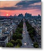 Paris, Avenue De La Grande Armee Metal Print