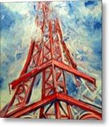 Paris Backdrop Metal Print