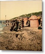 Trouville France Beach - The Good Old Days Metal Print