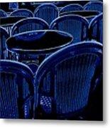 Paris Chairs Metal Print