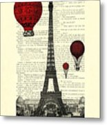 Paris, City Of Love Metal Print