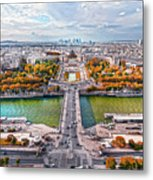 Paris City View 19 Art Metal Print