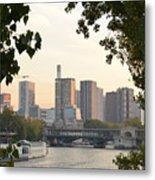 Paris Cityscape Across The Water Metal Print