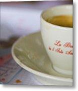 Paris Coffee Metal Print