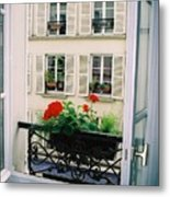 Paris Day Windowbox Metal Print