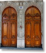 Paris Doors Metal Print