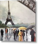 Paris Fog Metal Print