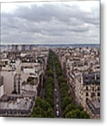 Paris From The Arch De Triumph Metal Print
