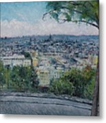 Paris From The Sacre Coeur Montmartre France 2016 Metal Print