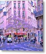 Paris Intersection Metal Print