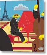 Paris Kats - The Coolkats Metal Print by Darryl Glenn Daniels