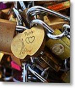 Paris Love Locks Paris France Color Metal Print