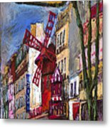 Paris Mulen Rouge Metal Print