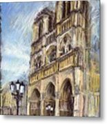 Paris Notre-dame De Paris Metal Print