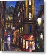 Paris Old Street Metal Print