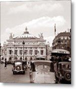 Paris Opera 1935 Sepia Metal Print