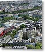 Paris Panorama From The Eiffel Tower Metal Print