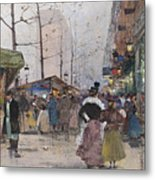 Paris Porte Saint Denis Metal Print