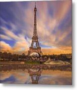 Paris Reflections Metal Print
